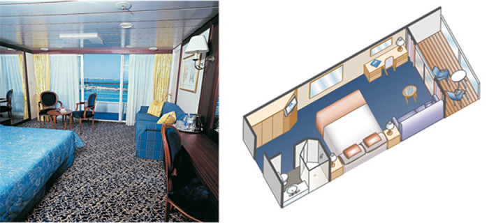 Balkonghytt på Princess cruises – Ocean & Pacific