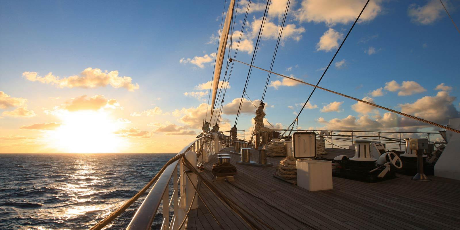 Ombord segelfartyget Sea Cloud II