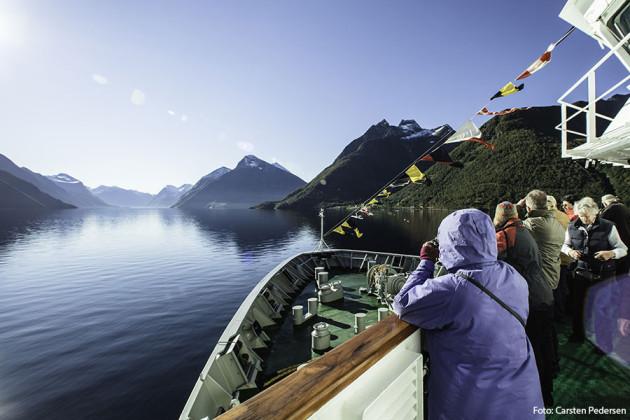 Ombord kryssningsfartyget Hurtigrutens MS Nordlys