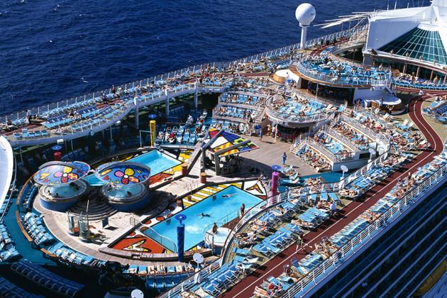 Soldäck på kryssningsfartyget Mariner of the Seas