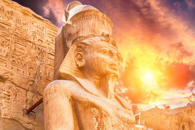 Tempelstaden Karnak i Luxor, Egypten.