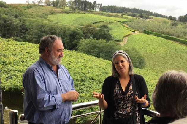 Urki Txakolina vingård i Spanien.