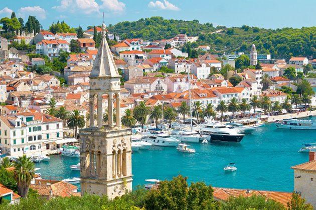Hamnen i Hvar Kroatien
