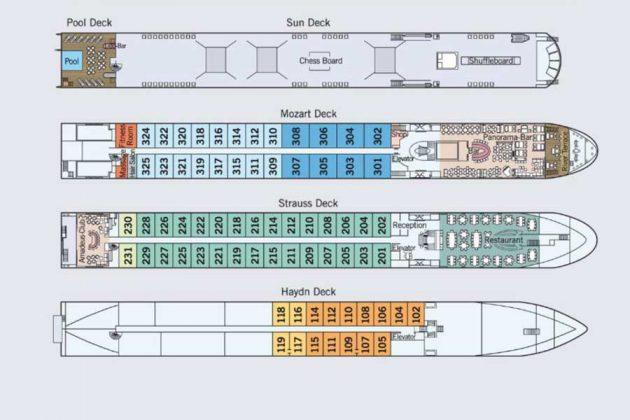 Amadeus Provence deckplan