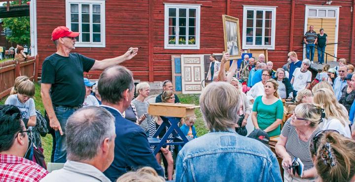 Auktion i Hälsingland, Sverige.