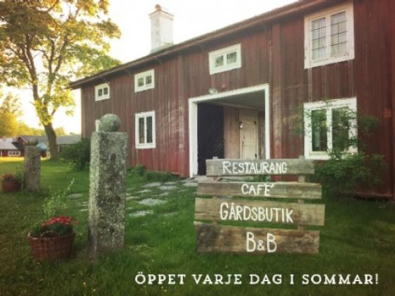 Gårdsbutik i Hälsingland, Sverige.
