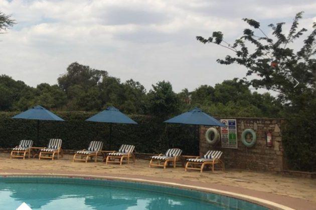 Poolen på Lake Naivasha Country Club, Kenya.