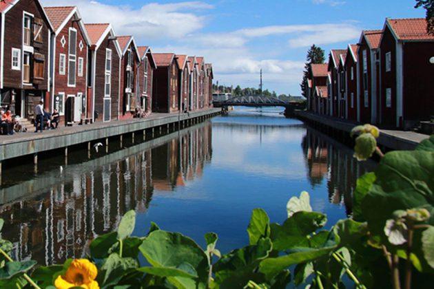Sjöbodar i Hudiksvall, Hälsingland.