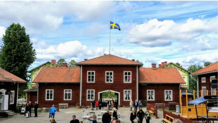 Stenegård i Hälsingland, Sverige.