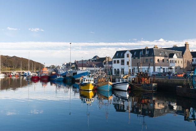 Stornoway, Skottland – hamnen