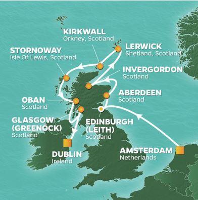 Karta Azamara Skottland