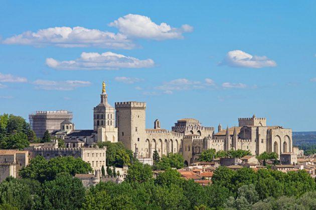 Påvepalatset i Avignon, Frankrike.