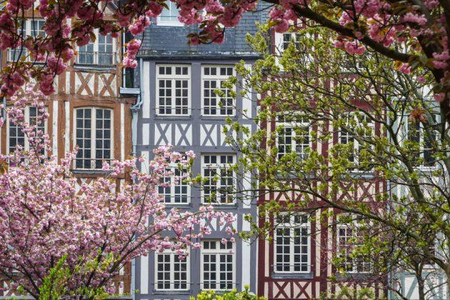 Korsvirkeshus i Rouen