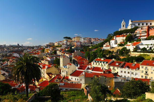 En solig dag i Lissabon, Portugal.