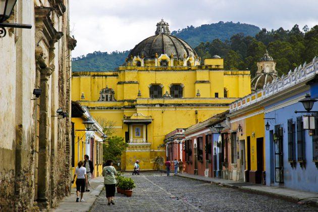 UNESCO-listade staden Antigua i Guatemala.