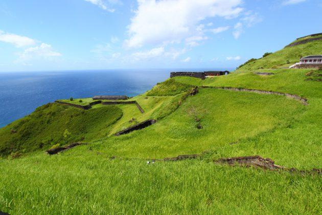 UNESCO-listade Brimstone Hill Fortress National Park på St. Kitts.