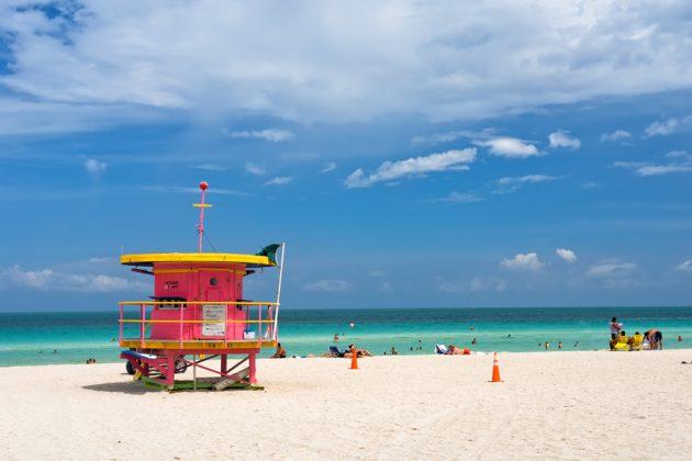Badvaktstorn på South Beach i Miami.