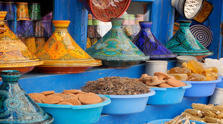 Tagineplattor Marocko